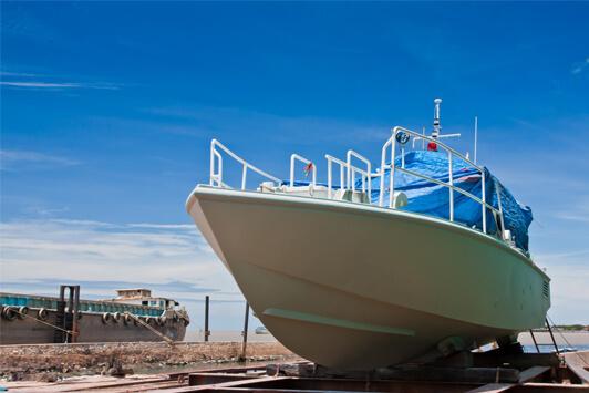 Sandblasting Las Vegas - Boat Sandblasting 1